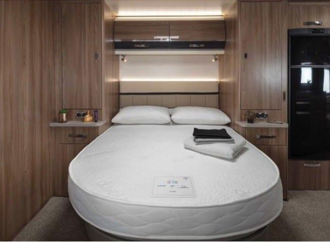 custom d lite swift front island shaped caravan motorhome campervan mattress 650x478 1