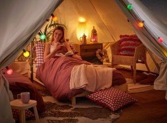 teepee yurt glamping duvalay sleeping bag 650x478 1